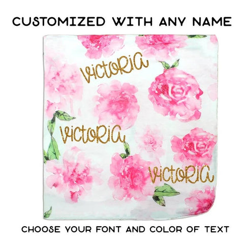 Personalized Floral Water Blanket
