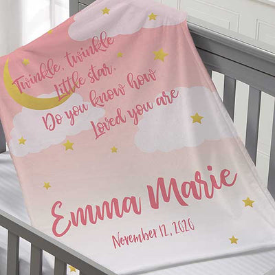 Personalize Pink Kids Blanket