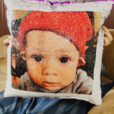Personalized Sequin Pillow For Baby/ Kids(Free Insert)