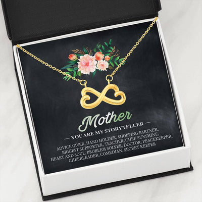 Mother You Are My Storyteller Infinity Shape Necklace For Mother's Day