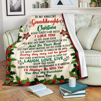 To My Amazing Granddaughter/Daughter/Grandson/Son/Niece Personalized Blanket