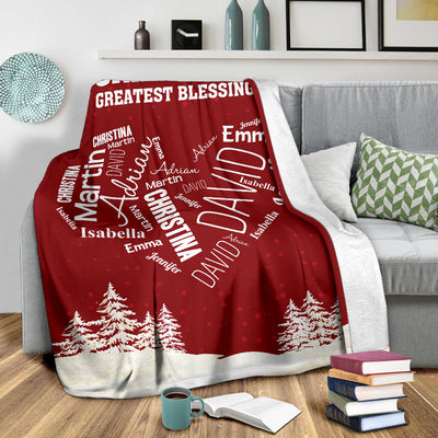 Close To Her Heart Personalize Blanket