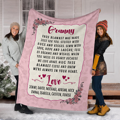 PERSONALIZED Grandma/Mom/Grandpa/Papa Blanket