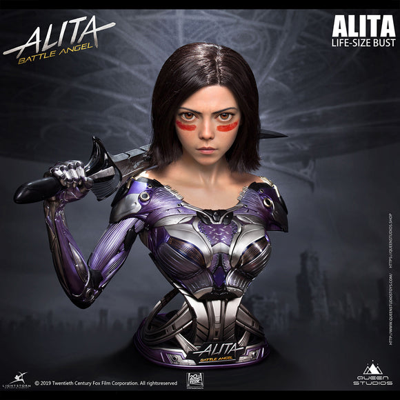 Queens Studio Alita 1:1 Scale Lifesize Bust Statue