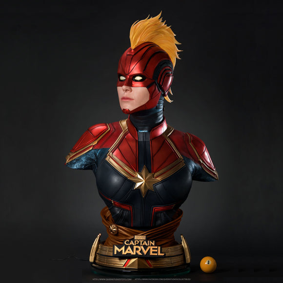 Queen Studios Captain Marvel 1:1 Scale Lifesize Bust Statue