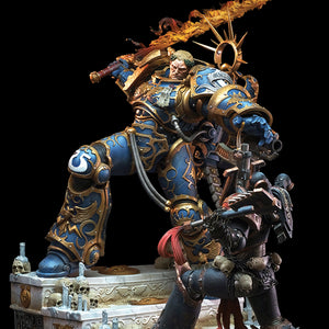 Guilliman vs Chaos Space Marine Diorama 1:6 Scale Statue