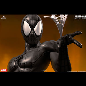 Queen Studios Spider-man Black 1:1 Scale Lifesize Bust