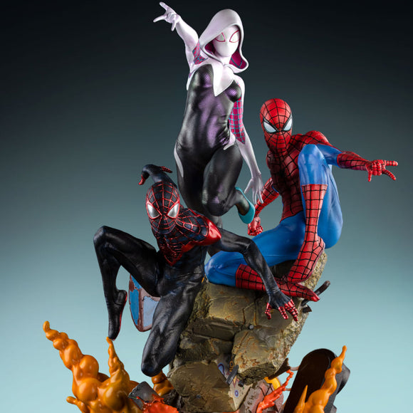 Queen Studios The Amazing Spider-man Spider-verse Trio 1/4 Scale Statue