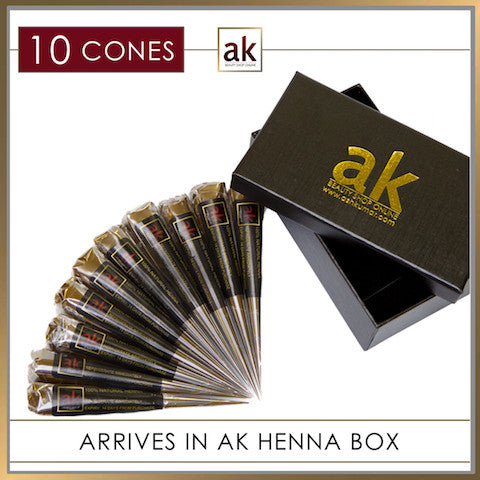 10 Ready To Use Henna Cones - Ash Kumar Products UK