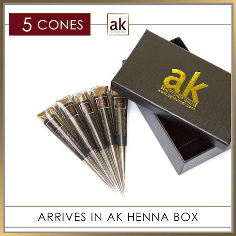 5 Ready To Use Henna Cones - Ash Kumar Products UK