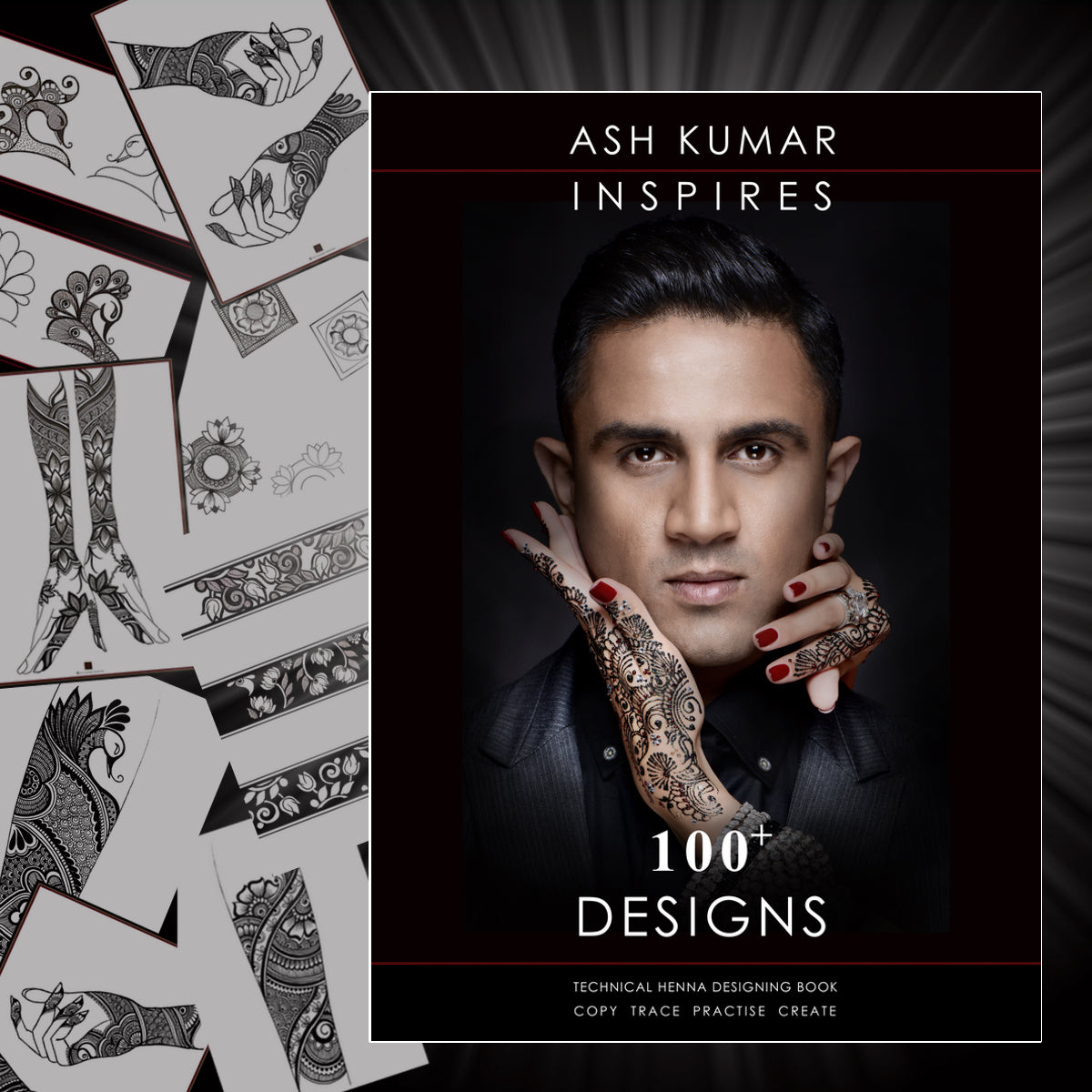 100+ Henna Designs Ash Kumar Inspires Book 2 (Incl Transparent Henna Board)