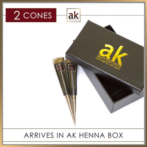 2 Ready To Use Henna Cones - Ash Kumar Products UK