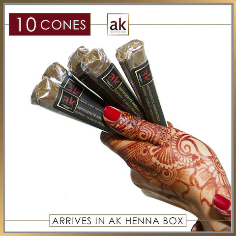 10 Ready To Use Henna Cones Ash Kumar Products Uk