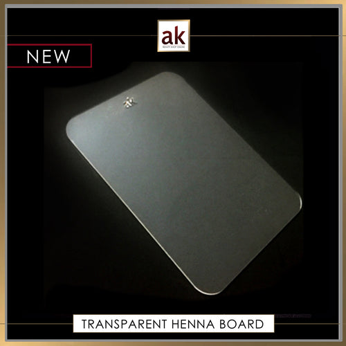 TRANSPARENT HENNA BOARD