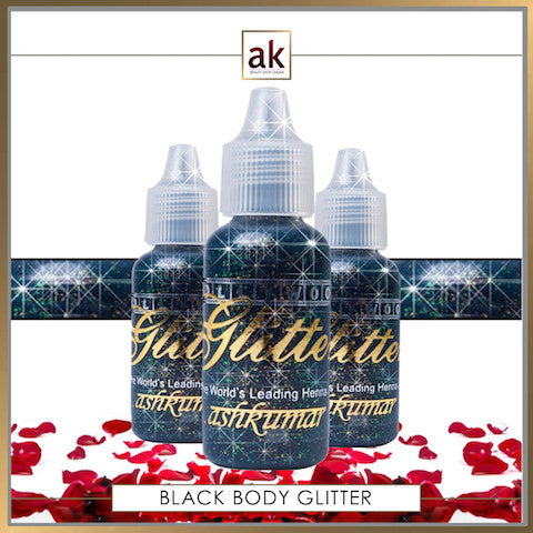Bollywood Glitter Gel - Black - Ash Kumar Products UK