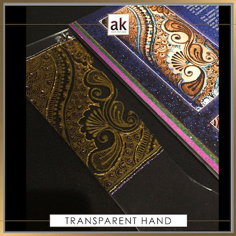 TRANSPARENT PRACTICE HAND - Ash Kumar Products UK