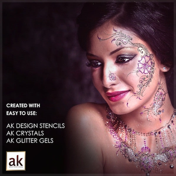 Bollywood Glitter Gel - Crystal White - Ash Kumar Products UK