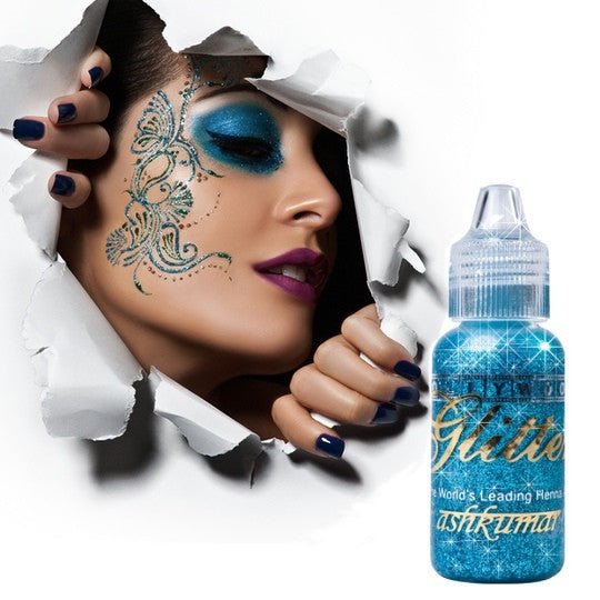 Bollywood Glitter Gel - Turquoise - Ash Kumar Products UK