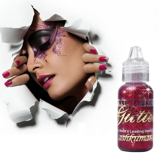 Bollywood Glitter Gel - Red - Ash Kumar Products UK