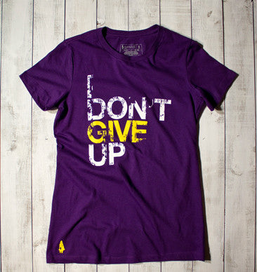 I Don't Give Up Active Tee - Purple