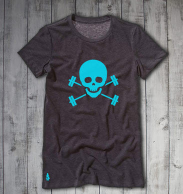 Suck It Up, Buttercup Active Tee - Dark Heather Grey