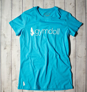 I Don't Try, I Do Active Tee - Blue