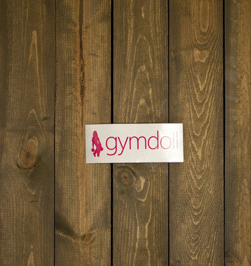 Gymdoll Logo Decal - Pink