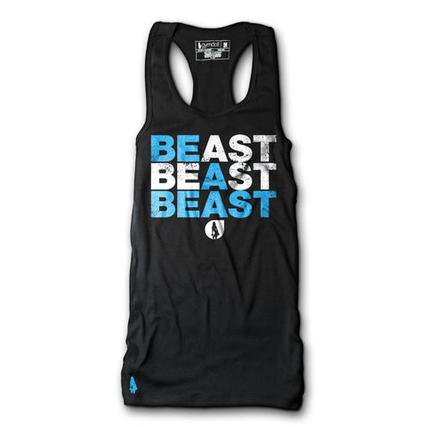 Be A Beast Active Tank - Blue/White