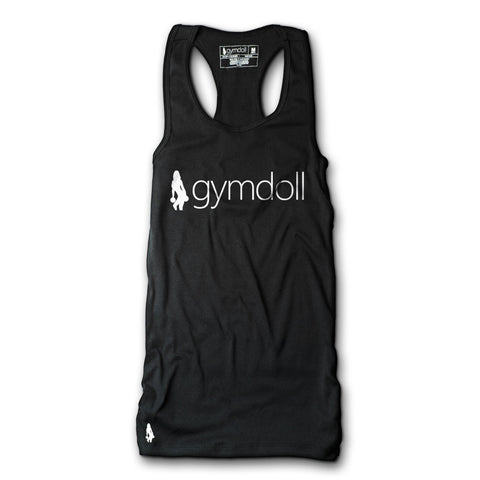 Skull & Barbells Active Tank - Black/Blue