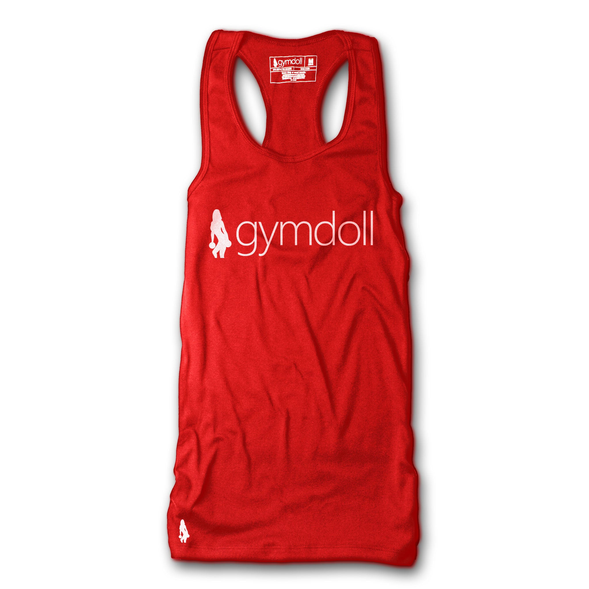 Gymdoll Racerback Active Tank - Logo - Red/White
