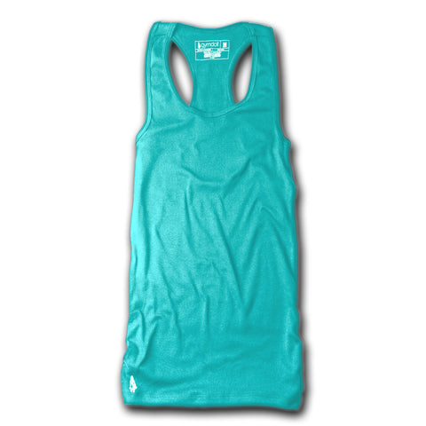 Every Drop of Sweat Counts Active Tank - White/Teal