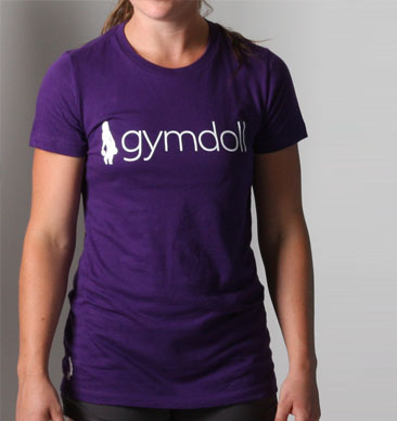 Gymdoll Logo Active Tee - Purple
