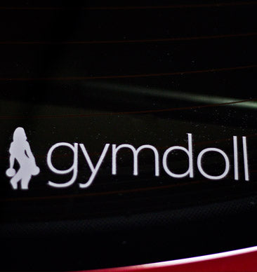 Gymdoll Logo Decal - White