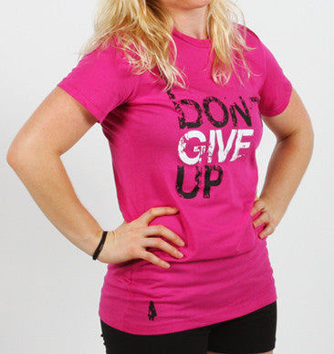 I Don't Give Up Active Tee - Pink