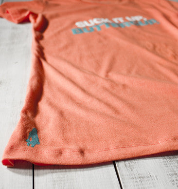 Suck It Up, Buttercup Active Tee - Nectarine