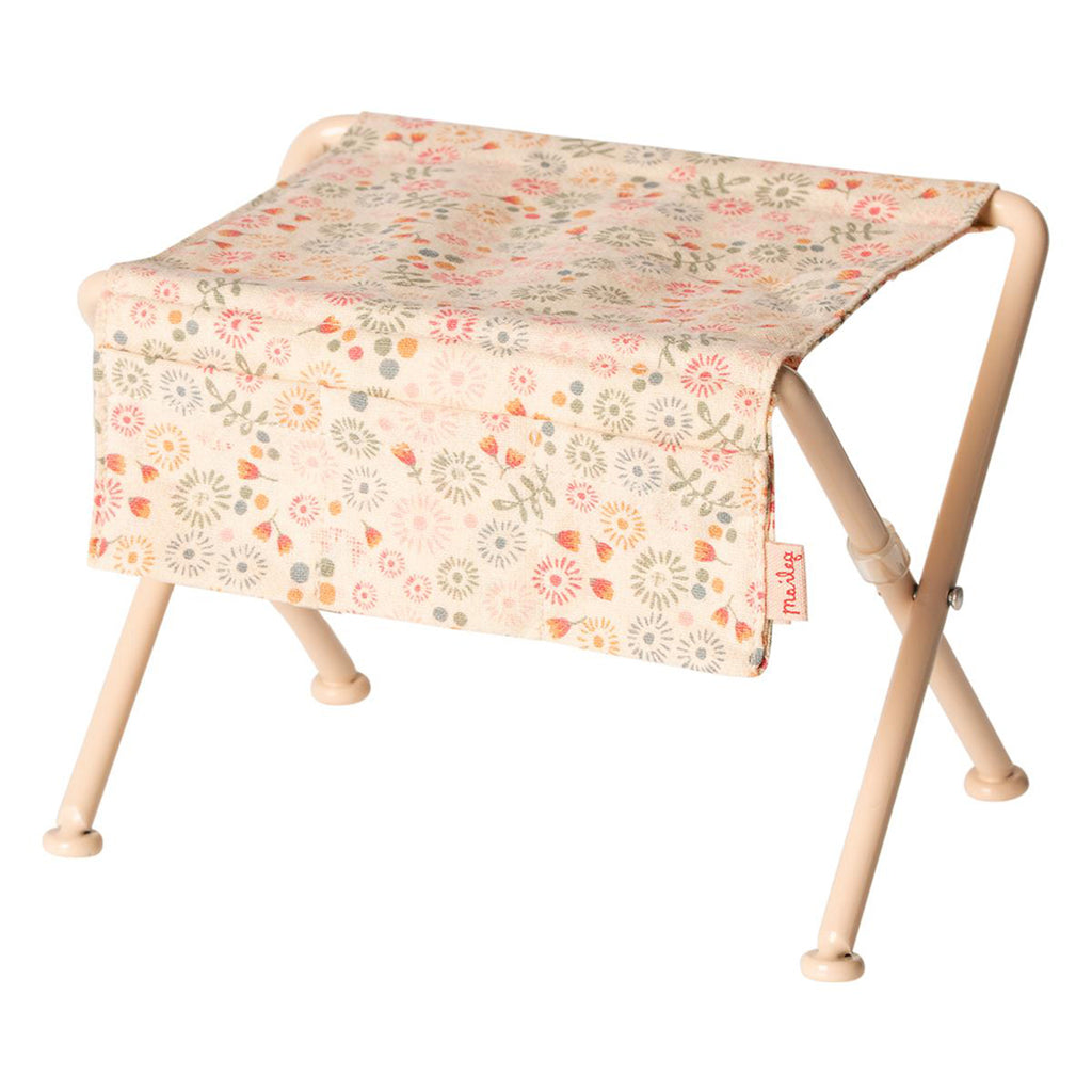 Maileg Pink Floral Nursery Table Children's Play Dollhouse Accessory