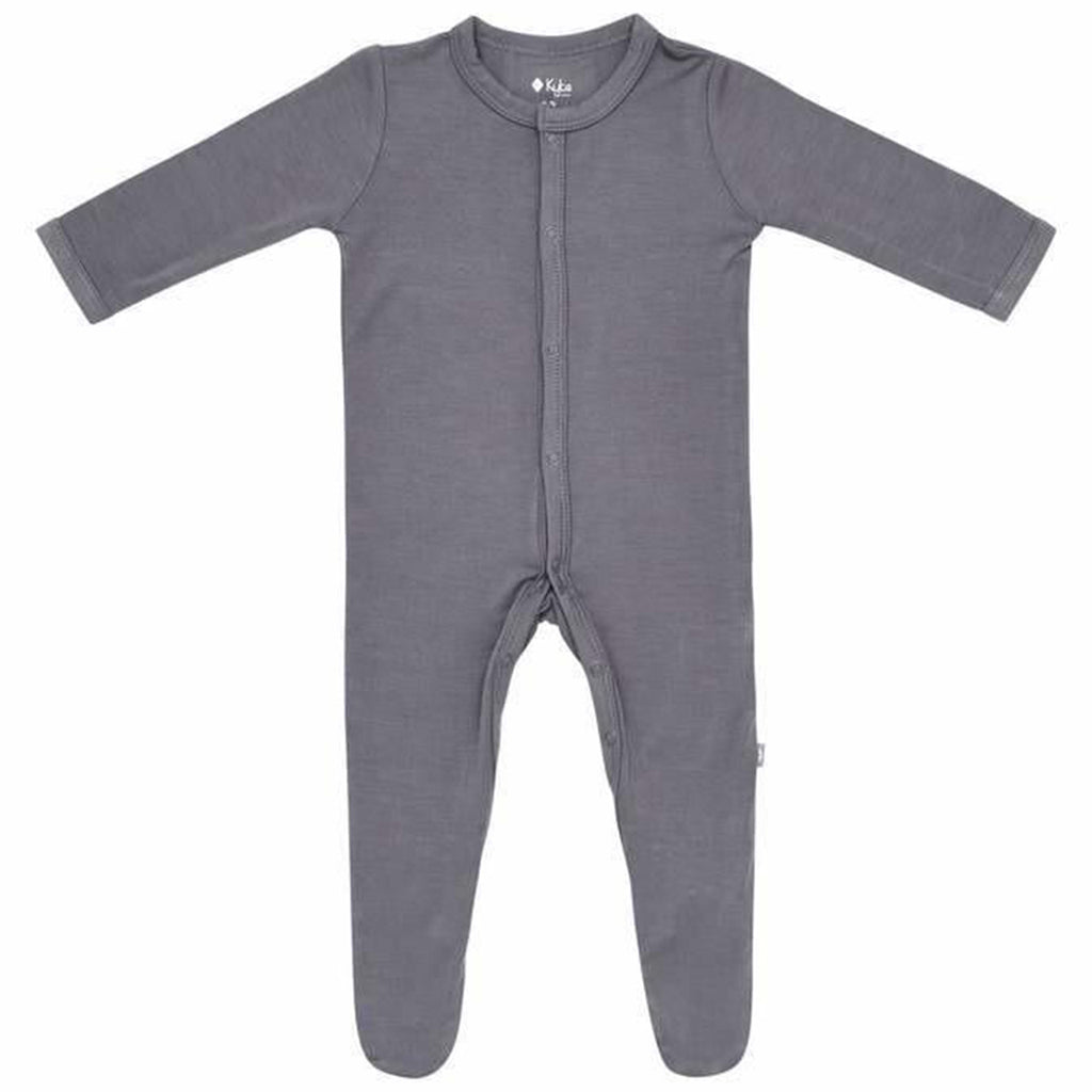 Kyte Baby Charcoal Snap Footie Infant Baby One-Piece Clothing Apparel dark grey