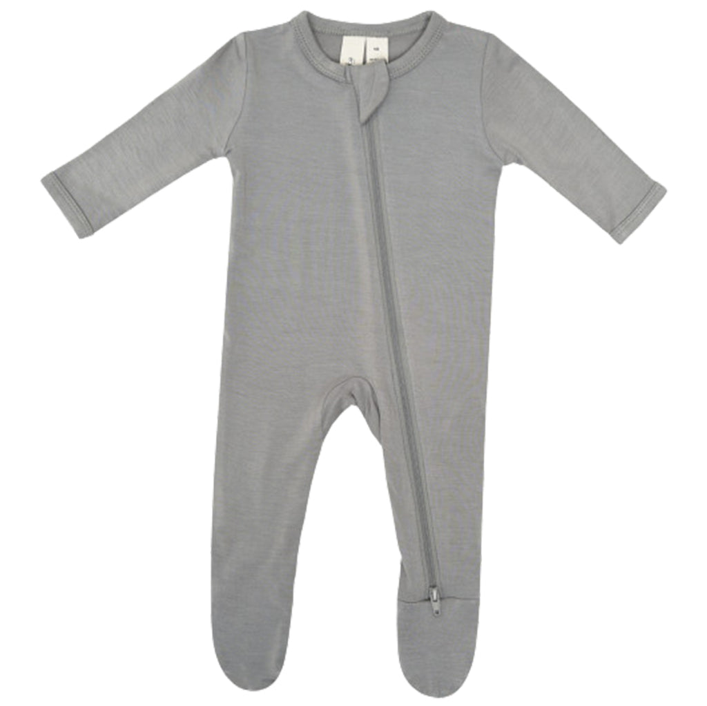 Kyte Baby Chrome Snap Footie Infant Baby One-Piece Clothing Apparel grey dark