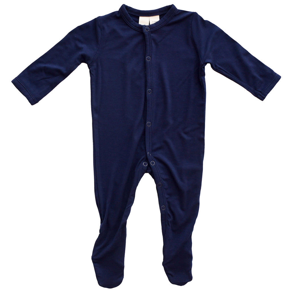 Kyte Baby Navy Snap Footie Infant Baby One-Piece Clothing Apparel dark blue