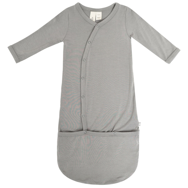 Kyte Baby Infant Snap Bundler Gown chrome grey light