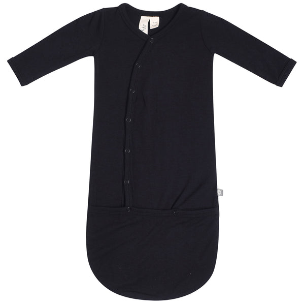 Kyte Baby Infant Snap Bundler Gown midnight black
