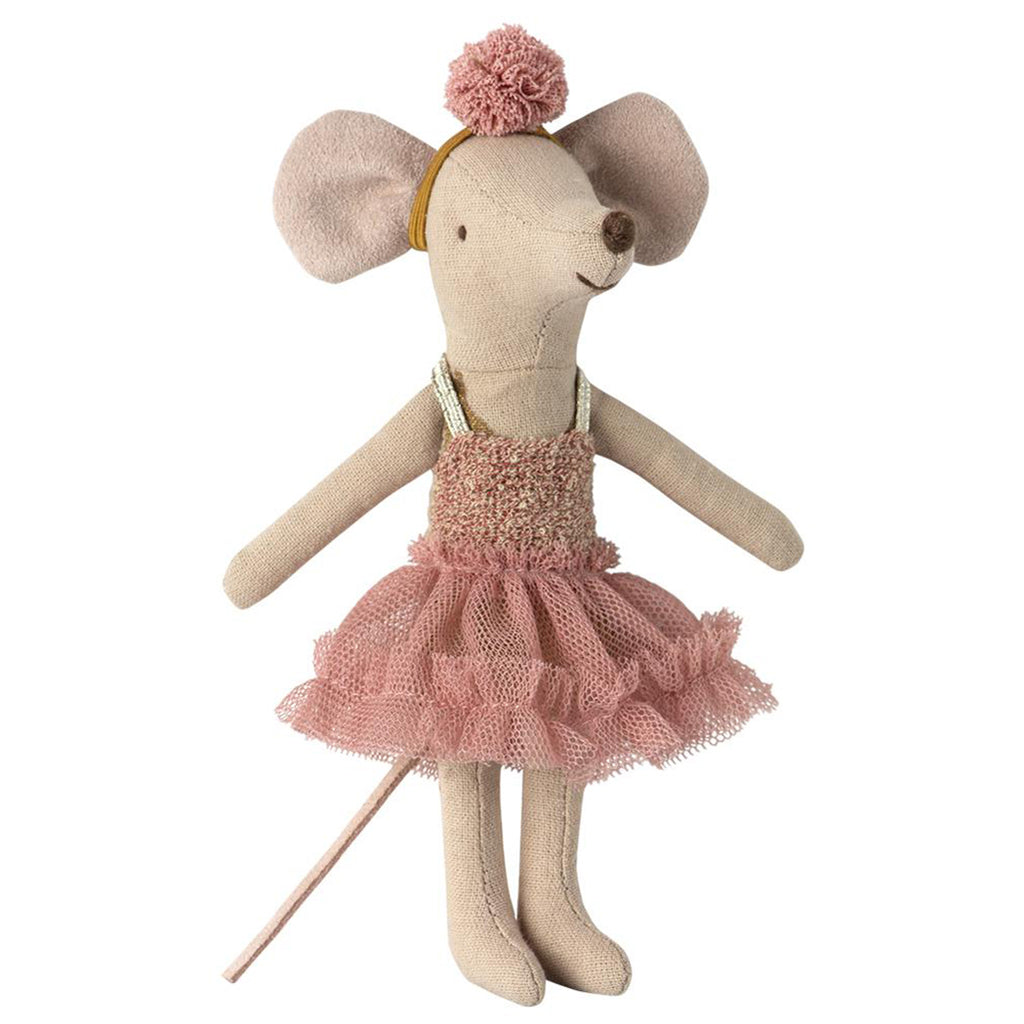 Maileg Big Sister Mira Belle Dance Mouse Children's Play Doll Toy pink tutu dress pom headband