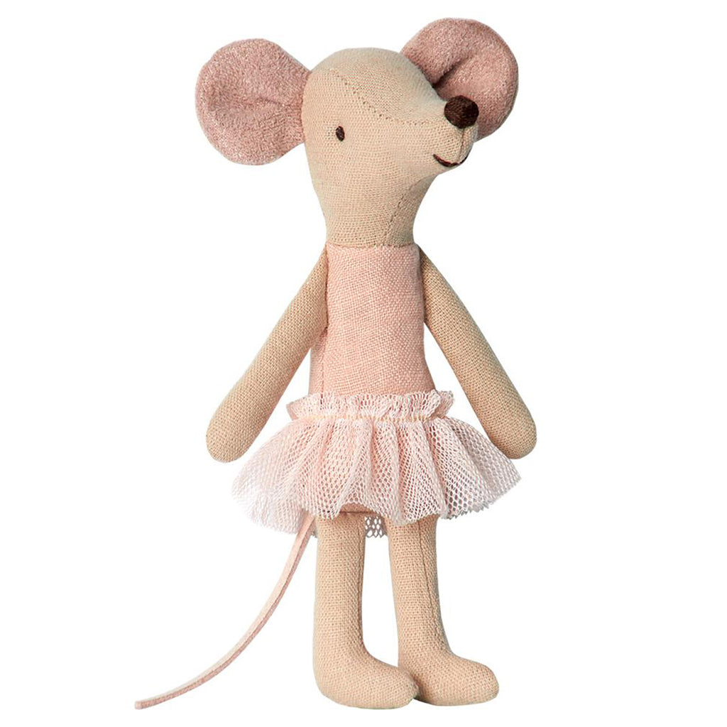 Maileg Big Sister Ballerina Mouse Children's Pretend Play Doll Toy pink leotard tutu