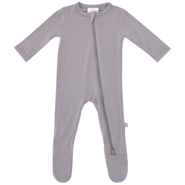 Kyte Baby Zipper Footie Infant Baby One-Piece Clothing Apparel clay grey dark