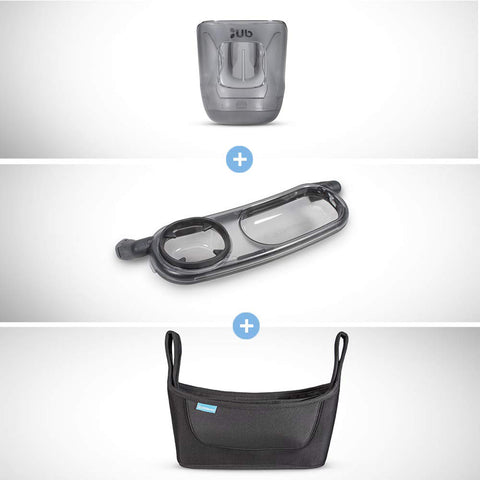 UPPAbaby VISTA/CRUZ Cup Holder + Snack Tray + Carry-All Organizer Set