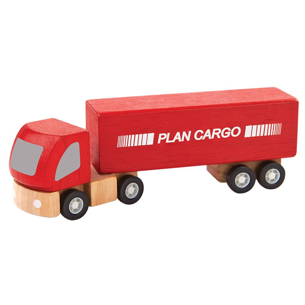 Plan Toys Cargo Truck Children's Pretend Play Toy Vehicle red semi trailer