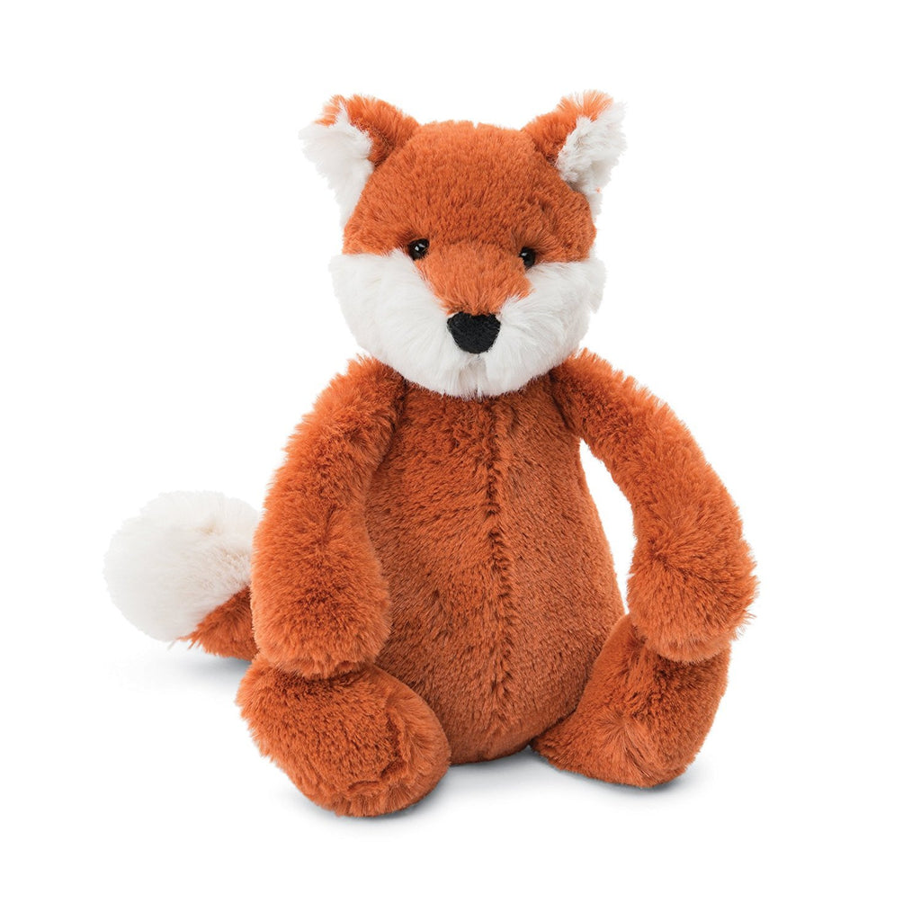 Jellycat Fox Small Bashful Children's Stuffed Animal Toys orange white