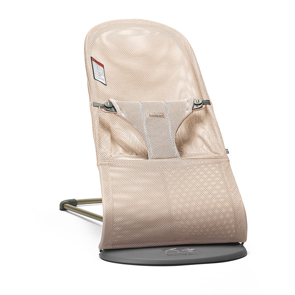 BabyBjorn Bliss Ergonomic Natural Movement Rocking Baby Bouncer breathable mesh pearly pink light