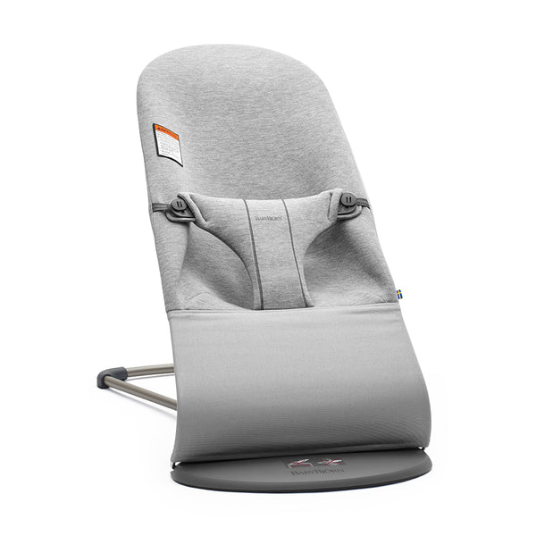 BabyBjorn Bliss Ergonomic Natural Movement Rocking Baby Bouncer jersey cotton light grey