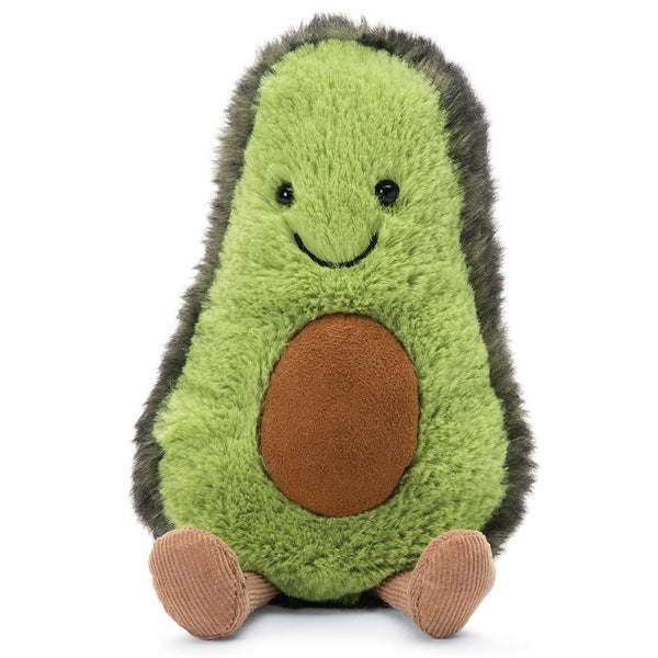 Jellycat Amuseables Stuffed Animals avocado green pit smile